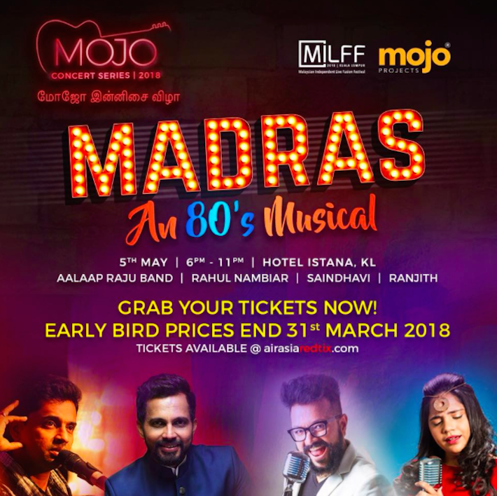 April 30, 2018 – Treat Yourself To This Star-Studded Indian Concert By Mojo Projects